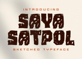 Saya Satpol Font