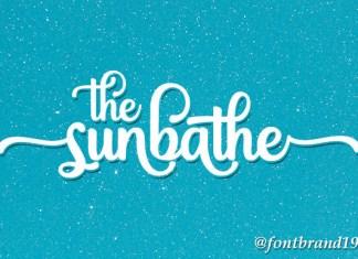 The Sunbathe Font