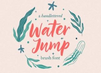 Water Jump Font