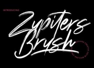 Zupiters Brush Font