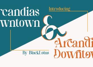 Arcandias Downtown Font