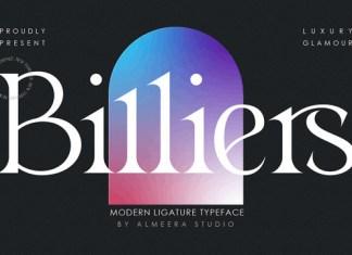 Billiers Font