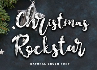 Christmas Rockstar Font