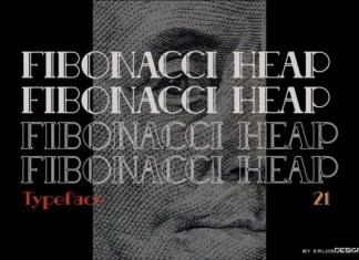 Fibonacci Heap Font