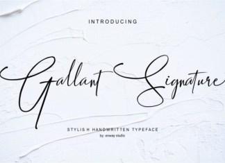 Gallant Signature Font