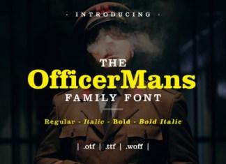 Officer Mans Font