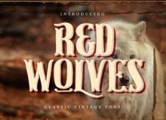 Red Wolves Font