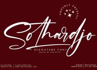 Sothardjo Font