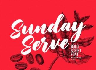 Sunday Serve Font