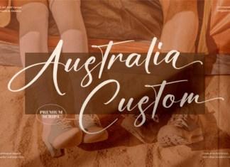 Australia Custom Font