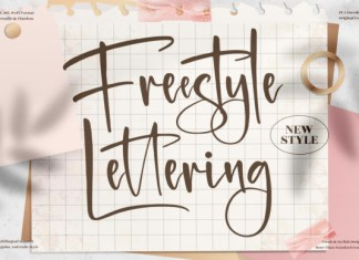 Freestyle Lettering Font