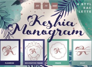 Keshia Monogram Font