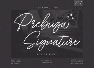 Prebuga Signature Font