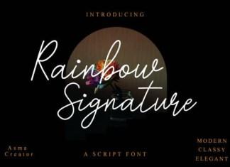 Rainbow Signature Font