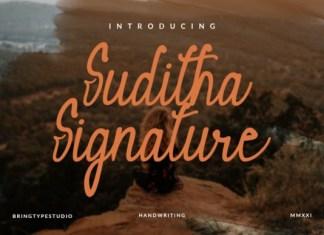 Suditha Signature Font