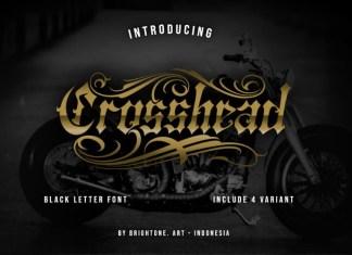 Crosshead Font