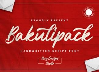Bakulipack Font