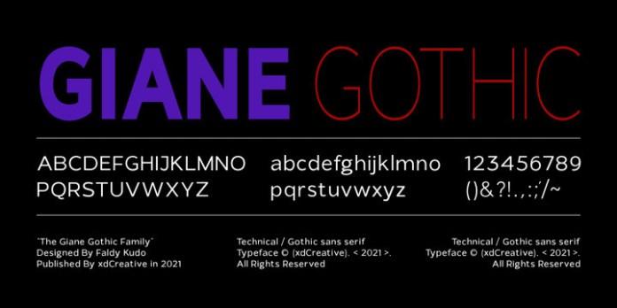 Giane Gothic Sans Font