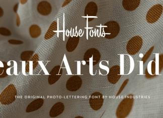 Plinc Beaux Arts Didot Font