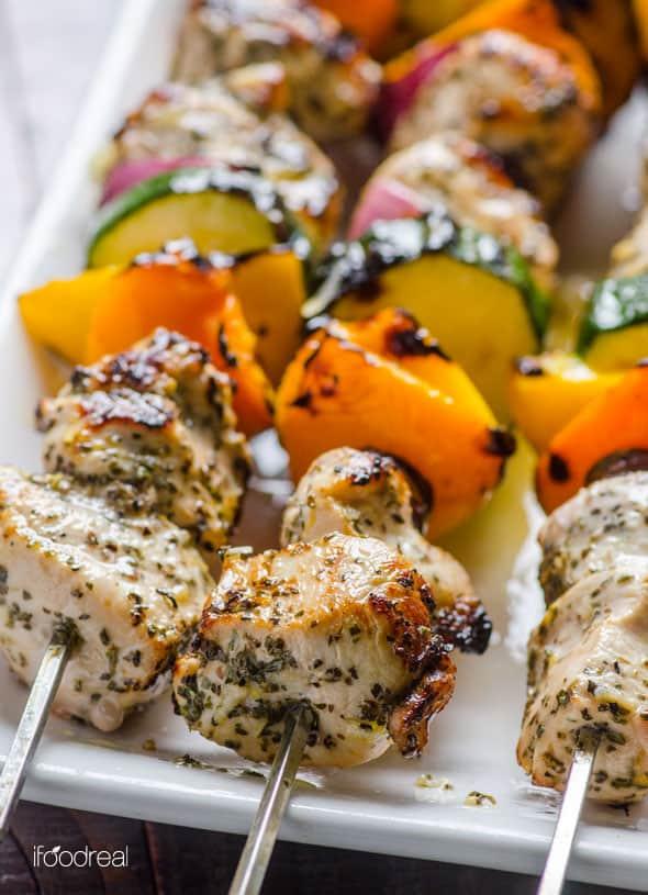 Greek Chicken Kebab Recipe - iFOODreal - Healthy Family