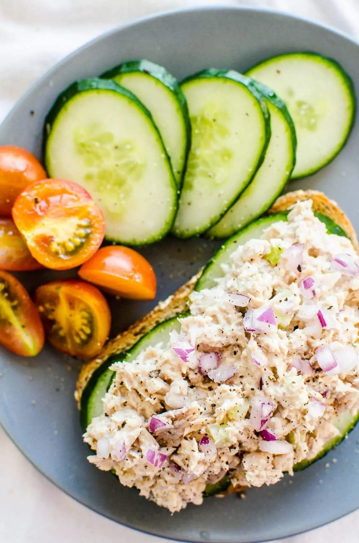 Healthy Tuna Salad - high protein snack recipes
