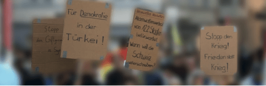 Kundgebung zum UNO-Weltfriedenstag
