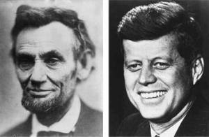 "Abraham Lincoln was elected to Congress in 1846. John F. Kennedy was elected to Congress in 1946. Abraham Lincoln was elected President in 1860. John F. Kennedy was elected President in 1960. Both were particularly concerned with civil rights. Both wives lost a child while living in the White House. Both Presidents were shot on a Friday. Both Presidents were shot in the head. Now it gets really weird. Lincoln's secretary was named Kennedy. Kennedy's Secretary was named Lincoln. Both were assassinated by Southerners. Both were succeeded by Southerners named Johnson. Andrew Johnson, who succeeded Lincoln, was born in 1808. Lyndon Johnson, who succeeded Kennedy, was born in 1908. John Wilkes Booth, who assassinated Lincoln, was born in 1839. Lee Harvey Oswald, who assassinated Kennedy, was born in 1939. Both assassins were known by their three names. Both names are composed of fifteen letters. Now hang on to your seat. Lincoln was shot at the theater named ""Ford."" Kennedy was shot in a car called ""Lincoln"" made by ""Ford."" Booth and Oswald were assassinated before their trials. And here's the ""kicker"": A week before Lincoln was shot, he was in Monroe, Maryland. A week before Kennedy was shot, he was with Marilyn Monroe. AND...................: Lincoln was shot in a theater and the assassin ran to a warehouse... Kennedy was shot from a warehouse and the assassin ran to a theater..."