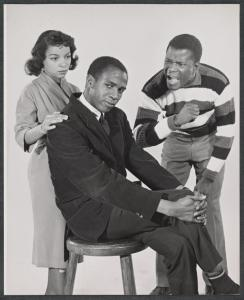 Ruby Dee, Louis Gossett, Jr. and Sidney Poitier (Studio session)