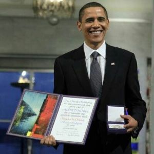 President Obama was awarded the Nobel Peace Prize.
