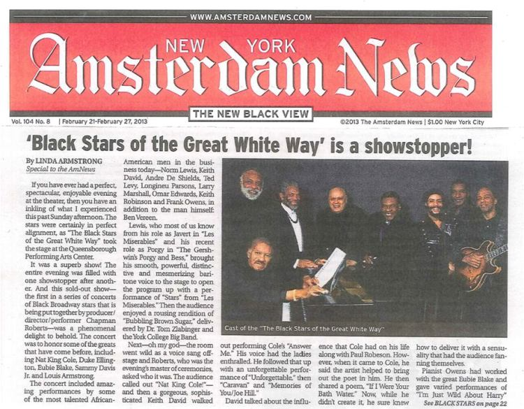 BLACK STARS NEWS ARTICLE AMSTERDAM NEWS 2-17-2013