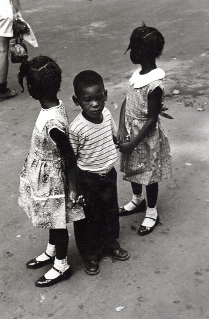 Frank Espada- Three Siblings, Central Park, 1964