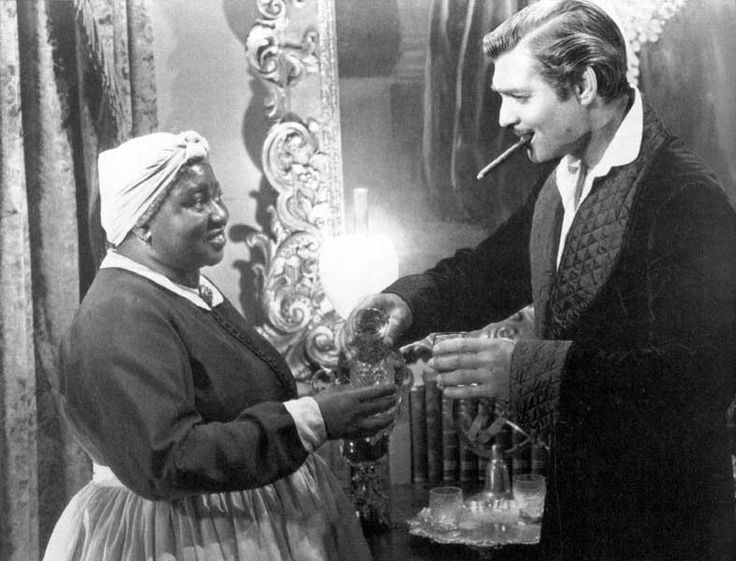 "Hattie McDaniel and Clark Gable, aka Mammy and Rhett Butler....The Atlanta premiere of ""Gone with the Wind"" was marred by the absence of Hattie McDaniel and other black cast members, who were banned due to Georgia's Jim Crow laws. An angry Clark Gable was on the brink of boycotting, but his friend McDaniel reportedly persuaded him to attend."