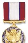 Army Distinguished Service Medal See more recipients of this award Awarded for actions during the Peace Time Awards The President of the United States of America, authorized by Act of Congress July 9, 1918, takes pleasure in presenting the Army Distinguished Service Medal to General Colin Luther Powell, United States Army, for exceptionally meritorious and distinguished service in a position of great responsibility to the Government of the United States from October 1983 to September 1993, while serving in consecutive positions of significant responsibility, culminating as the Chairman of the Joint Chiefs of Staff. During the final ten years of his distinguished career, General Powell commanded Army troops in Europe and in the Continental United States, and served as a senior military advisor to several Secretaries of Defense and Presidents. Consistent throughout all his assignments were his visionary leadership, selfless service to the Nation and its people, concern for the readiness of the Armed Forces, and above all compassion for every soldier, airman, sailor and Marine. During his tenure as the Chairman, he was confronted with ever increasing demands for military forces for missions ranging from major regional conflicts to peacekeeping and humanitarian operations. At the same time, the economic demands of the Nation required him to drastically reduce and restructure the military forces. A testimony to his efforts has been the United States' successes in recent military operations throughout the world, to include Panama and the Persian Gulf, and the confidence of the American people in its Armed Forces. Under his stewardship, the United States military power has been renewed to a highly cohesive joint team, and the basis for the continued health of our Army, Navy, Air Force and Marine Corps into the next century has been laid. In sum, General Powell's influence has had a beneficial effect on the security of the free world. General Powell's distinguished service 