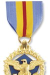 Defense Distinguished Service Medal See more recipients of this award Awarded for actions during the Peace Time Awards (Citation Needed) - SYNOPSIS: General Colin Luther Powell, United States Army, was awarded the Defense Distinguished Service Medal for exceptionally meritorious and distinguished service in a position of great responsibility to the Government of the United States. Service: Army Rank: General