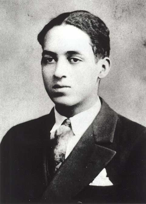 Thurgood Marshall's high school graduation photograph at age 17. His father was a railroad dining-car porter and steward at a country club; his mother, a homemaker, was a graduate of the historically black Coppin Normal School. (Courtesy of Supreme Court Historical Society)