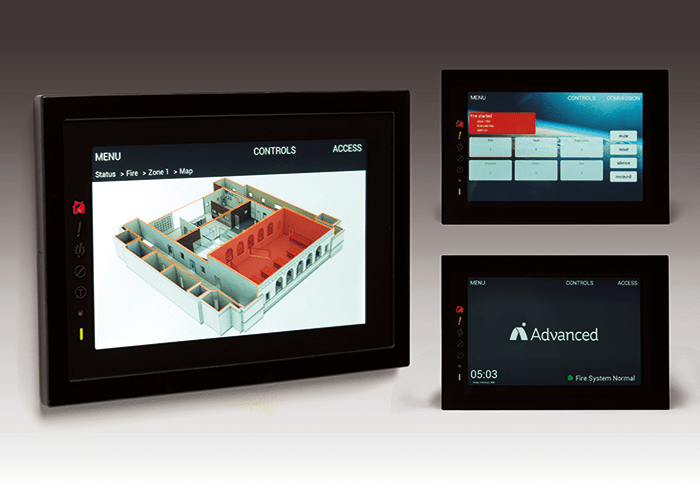 To take advantage of the unique features a touchscreen delivers a unique interface with Active maps was developed. Image courtesy of Advanced.