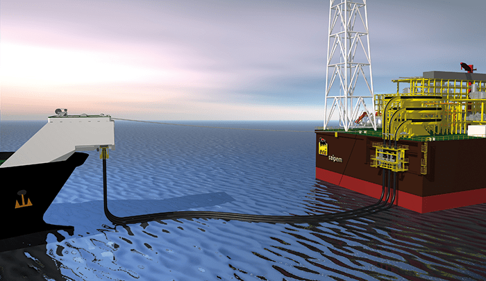 Oil and gas operators will be able to connect the system at wave heights of up to 4 meters and to offload with 4.5 meter waves. Image courtesy of Trelleborg Industrial Solutions.