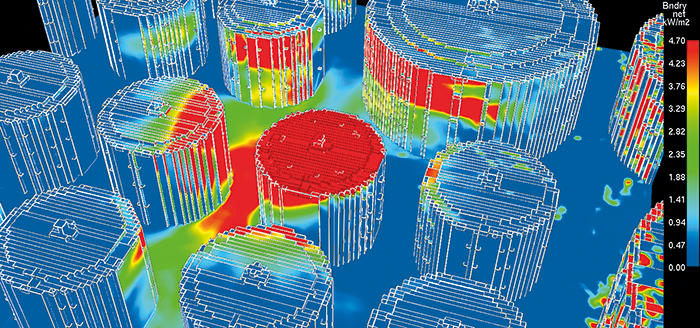 Example of 3-D Radiant Heat Affected Zones.