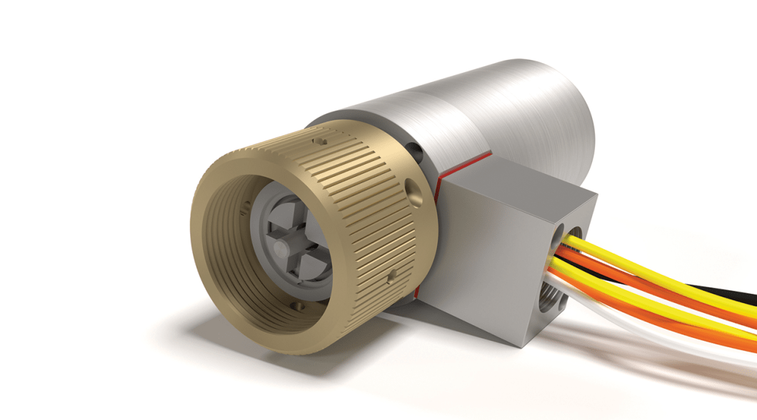 Supervised latching solenoid actuator with factory-wired leads.