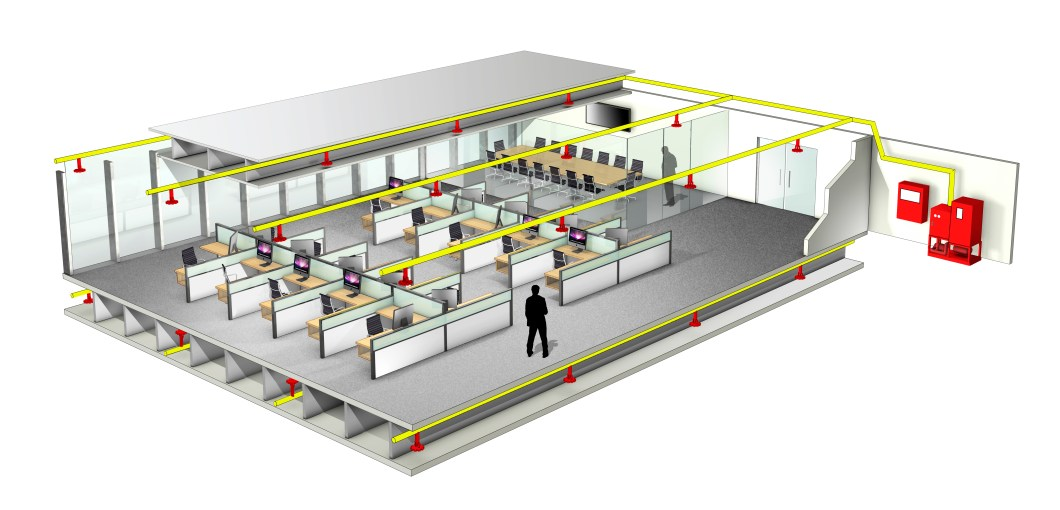 Tyco FPP AquaMist ULF Office layout