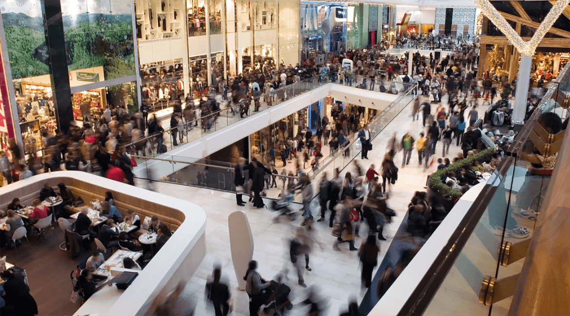 Busy public buildings such as shopping centres present particular evacuation challenges.