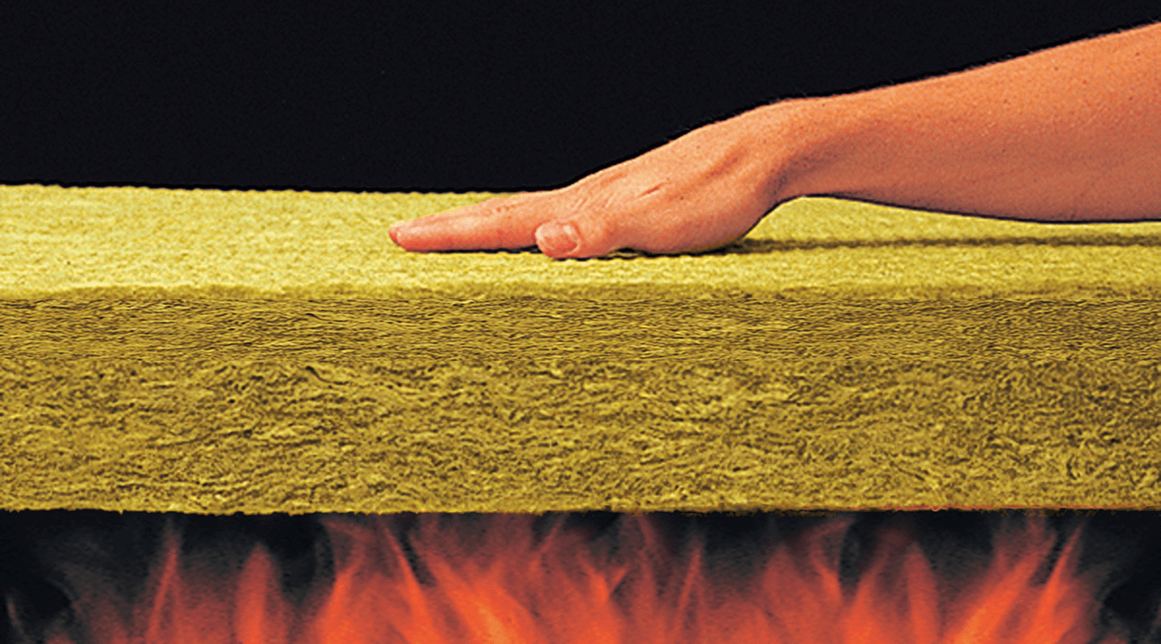 Stone wool insulation is fire resistant and doesn't contribute to the development of toxic smoke, harmful gases, or flame spread.