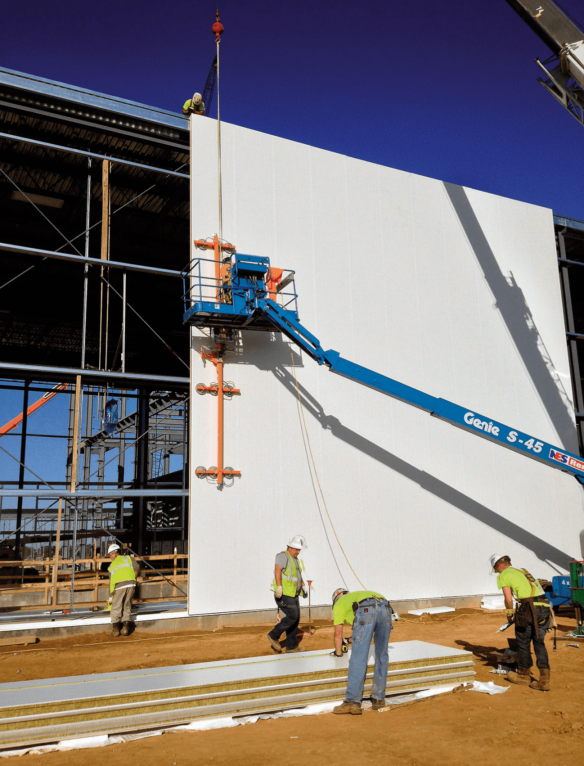 SWPs can be up to 12 m in length and can be installed vertically or horizontally. For larger panels, a crane is sometimes used to lower them into position.