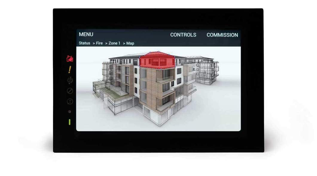 Touchscreen technology allows users to pinpoint the location of a fire incident.