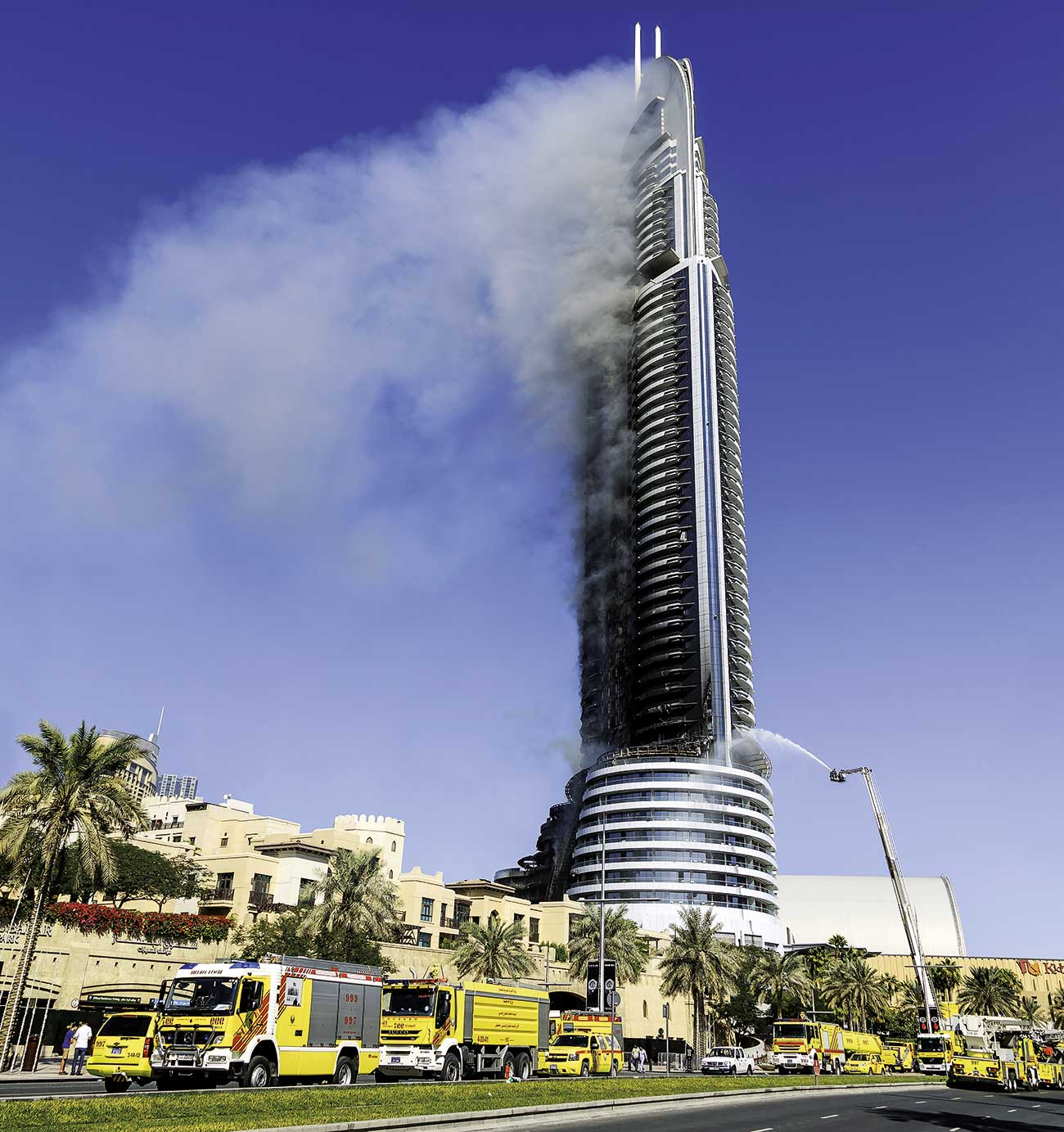 Flammability of high rise facades is currently under increased scrutiny.