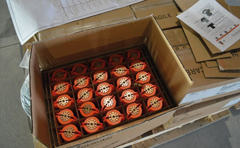 Style V9 Sprinkler couplings arrive preassembled and ready to install.