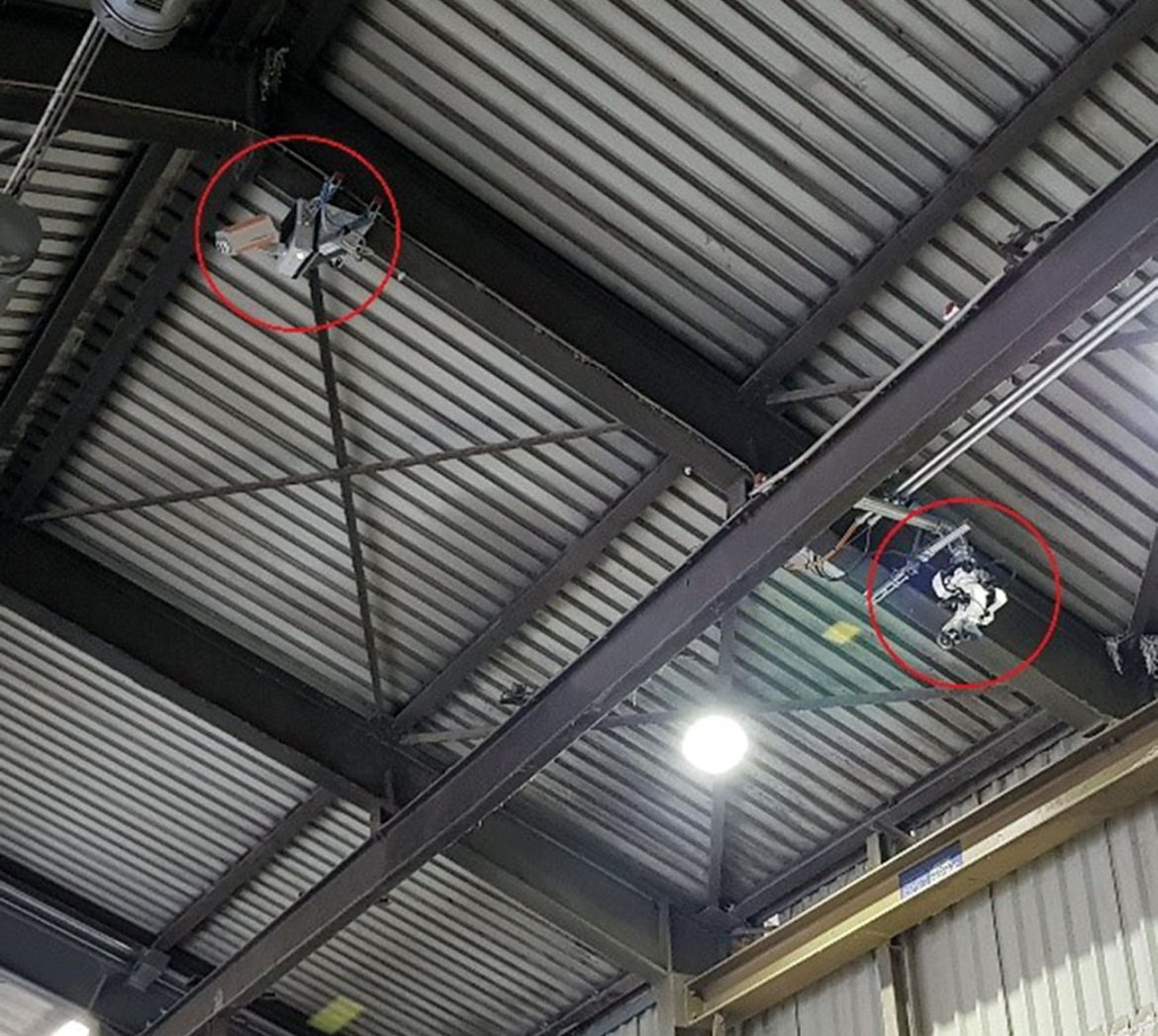 Figure 5: PYROsmart heat-detection system and remote-controlled monitor in recycling plant.