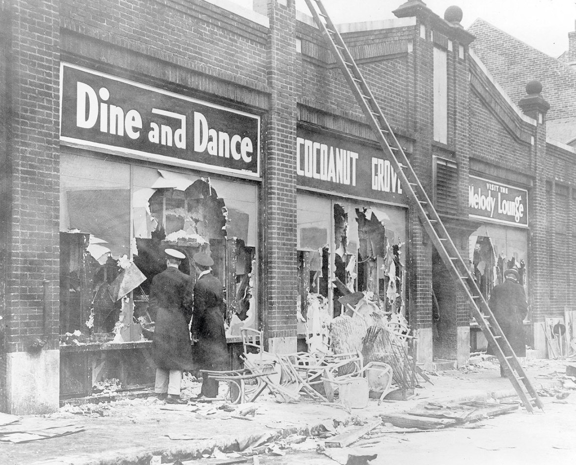 The Cocoanut Grove Fire broke out in 1942 in Boston, not far from NFPA headquarters. It remains the deadliest nightclub fire in US history. The tragic incident underscored building and life safety challenges and fire protection voids, and led to improvements in burn survivor care.