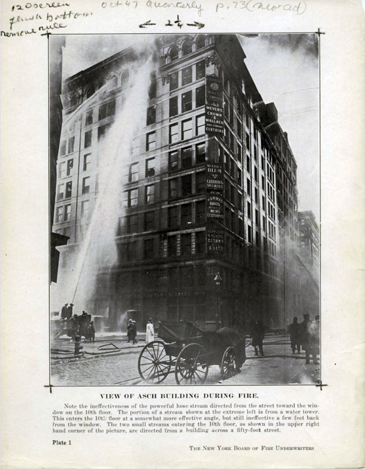Triangle Shirtwaist Factory Fire in New York City was one of the deadliest fires in US history, killing 146 workers who were thwarted by locked doors and exits. The tragedy led to the Buildings Exits Code, which became the life safety code or NFPA 101 and influenced worker safety guidance.