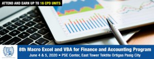 Macro Excel and VBA for Finance and Accounting